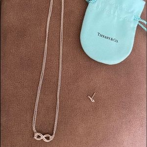 Tiffany & Co infinity necklace and 1 earring